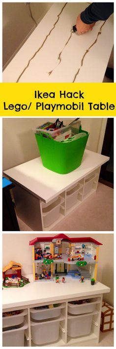 Ikea Hack Table Lego / Playmobil - Perfect way to contain all those tiny little pieces!  - Family Food And Travel