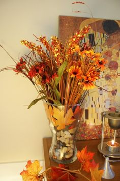 Fall Vase...Going to Hobby Lobby this week to get this stuff to go in my empty crystal vase that's on my dining room table.