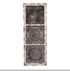 Wood & Tin Florette Wall Plaque