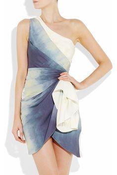 ALICE + OLIVIA  Bree tie-dye silk one-shoulder dress  €448.07