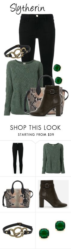 """Slytherin"" by charlizard ❤ liked on Polyvore featuring Frame, Massimo Alba, Henri Bendel, CHARLES & KEITH, Betsey Johnson, Kate Spade, harrypotter, slytherin, hogwarts and fallfashion"