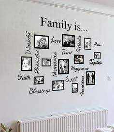 Wall Art Designs: Family Wall Art Artwork Mural Paintings Family Wall Art Quote Collage Awesome Photos On Framed Bordered Love Trust Faith Memories Creative Decor Stickers, Family Wall Art Home Ideas Wall Decor Family Wall Decor Family Wall Decal Family Tree Mural, Family Wall Decor, Family Collage, Family Trees, Gallery Wall Frames, Frames On Wall, Vinyl Frames, Wood Frames, Wall Stickers Family