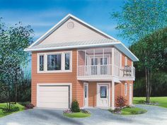 The Travis One-Car Apartment Garage plan. See details for Plan 113D-7502.