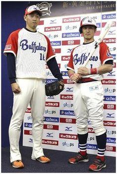 オリックス、近鉄復刻ユニホームを披露 - 野球 - SANSPO.COM(サンスポ)    (via http://www.sanspo.com/baseball/photos/20120709/buf12070915550001-p1.html )