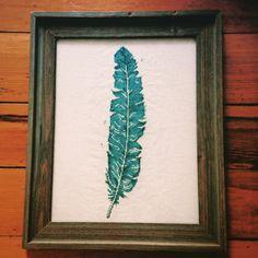 Modern Cross Stitch - Turquoise Feather Cross Stitch Pattern - PDF Pattern…