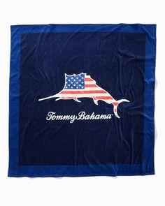 Marlin Flag Beach Blanket Beach Blanket, Beach Chairs, Island Life, Tommy Bahama, Beach Trip, Atari Logo, Flag, Logos, Coolers