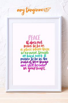Download and print these colorful inspirational quotes from Amy Tangerine! These positive rainbow quotes are great for colorful gallery walls in your home office, craft room or anywhere in your home. colorful wall decor | rainbow wall art | printables | rainbow prints | colorful prints   #amytangerine Rainbow Quote, Rainbow Wall, Rainbow Print, Creative Lettering, Hand Lettering, Printable Stickers, Printable Wall Art, Gallery Walls, Be Kind To Yourself