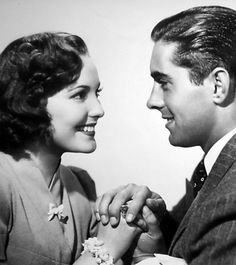 """Linda Darnell and Tyrone Power in """"Day-Time Wife"""" (1939)"""