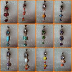 Wrapped glass/ bumpy bead belly rings by BellybyMollie on Etsy