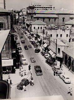 تقاطع شارع الأمير بشير وشارع بشارة الخوري - في الستينيات
