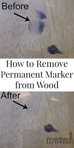 How to Remove Permanent Marker from Wood - cleaning tips for removing marker stains from wood furniture. Easy DIY cleaning idea.