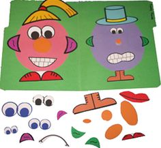 File Folder Games: Emotions skills: using pictures to communicate feelings and ideas, interpreting pictures, creativity