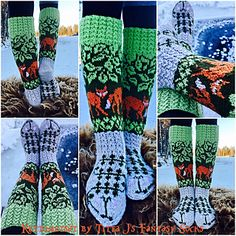 Ravelry: Foxforest pattern by Titta Järvensivu Knitting Charts, Knitting Stitches, Knitting Designs, Knitting Patterns, Crochet Patterns, Knit Mittens, Knitting Socks, Hand Knitting, Fair Isle Chart