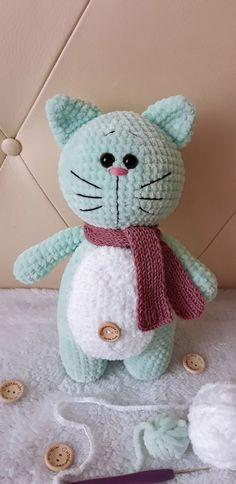 Amigurumi Doll Pattern, Crochet Cat Pattern, Granny Square Crochet Pattern, Crochet Animal Patterns, Crochet Cat Toys, Crochet Bunny, Free Crochet, Doll Patterns Free, Stuffed Toys Patterns