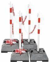 Kettenpfosten Set 4 Absperrpfosten Stahl 1m x Ø42mm Kette rot-weiß Shops, Shopping, Online Shopping, Steel, Products, Necklaces, Tents, Retail, Retail Stores