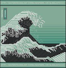 Alan Bousquet は葛飾北斎の「神奈川沖浪裏」を電子回路で表現。世界でもっとも有名な浮世絵の1つである本作品をユニークなアプローチでクリエイティブに仕上げている。 http://oak.ctx.ly/r/2vw5f