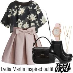 Lydia Martin inspired outfit/TW by tvdsarahmichele on Polyvore featuring moda, Chicwish, Steve Madden, Kate Spade and With Love From CA
