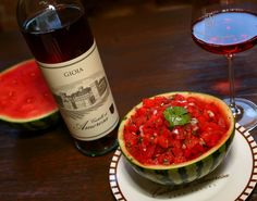 Watermelon Salsa + Gioia rosé of Sangiovese = perfect summer pairing