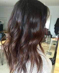 Glossy chestnut balayage #brunettebalayage #melbournehairdresser