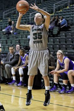 Abby Jump going for a 3 pointer!  To read Abby's bio click on her photo!