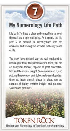 °K has Life Path 7