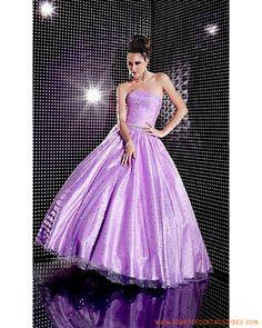 Boutique robe de cocktail princesse sans bretelle ornée de cristal taffetas