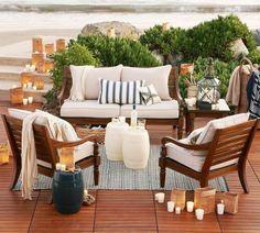 gemütliche Sitzecke draußen gestalten Plauderstunden mit Freunden und Familie