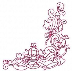 Enchanted Princess 10 - 3 Sizes!   Borders   Machine Embroidery Designs   SWAKembroidery.com
