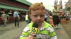 This Hilarious Kid Totally Stole The Show During A TV Interview At A County Show With His New Favorite Word.