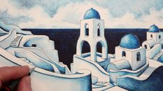How to Draw Buildings: Santorini Greek Island