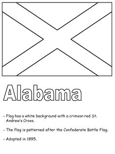 alabama state information Alabama Symbols Facts FunSheet