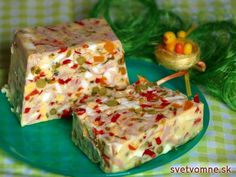 Egg terrine - step by step - No Salt Recipes, Cooking Recipes, Party Food Trays, Scary Food, Best Pancake Recipe, Cold Dishes, Czech Recipes, Party Finger Foods, Hungarian Recipes