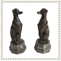 Classic Greyhound Bookends