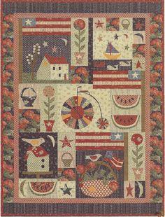Primitive Folk Art Embroidery/Quilt Pattern by PrimFolkArtShop