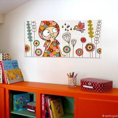 Pintura infantil on pinterest nursery art surface for Chambre fille originale