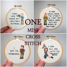 One mini cross stitch  pixel person cross stitch by aliciawatkins, $28.00 on Etsy at http://www.etsy.com/listing/158452050/one-mini-cross-stitch-pixel-person-cross?ref=shop_home_active