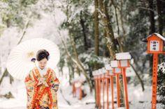 真っ白雪の日*和装前撮り |*elle pupa blog*