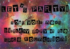 """Host your next birthday at the Space Foundation Discovery Center!  Packages include """"Astronaut Me"""" photos for each party guest, a Science on a Sphere® presentation and much more!!  Email SFDCinfo@spacefoundation.org or visit spacefoundation.org/discover for more info"""