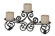 A29 Tuscan 3 Pillar Candle Holder, Wedding Centerpiece, Iron, 2015 Amazon Top Rated Candlesticks #Home