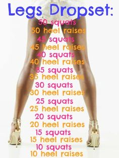 Repeat daily for a month for killer legs - Workout Plan Drop Sets Workout, Toned Legs Workout, Killer Leg Workouts, Toning Workouts, Thigh Workouts, Cheer Workouts, Soccer Workouts, Leg Workout At Home, At Home Workouts