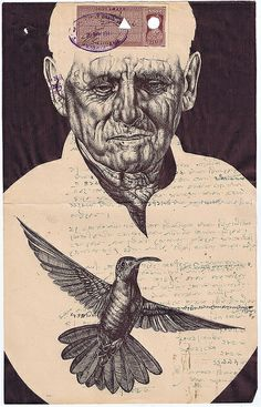 markpowell 'even though the memories remained, all was forgiven' Bic biro drawing on a Indian document. Biro Drawing, Drawing Heads, Mark Powell, Decorated Envelopes, Gcse Art, Mail Art, Art Inspo, Vintage Art, Art Gallery