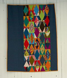 Garden Diamonds Quilt by BlueElephantStitch on Etsy