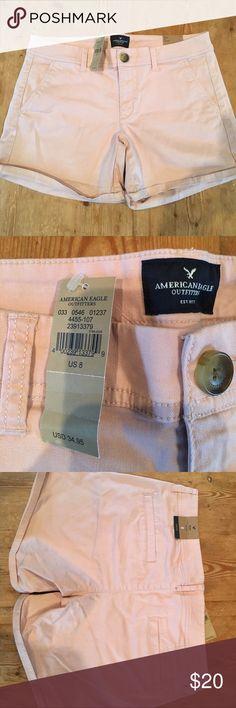 NWT, American Eagle blush colored midi shorts, 8 NWT, American Eagle midi low rise stretch shorts in a soft blush color, size 8 American Eagle Outfitters Shorts