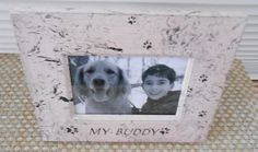 Your place to buy and sell all things handmade Dog Frames, My Buddy, Make It Yourself, Unique Jewelry, Handmade Gifts, Dogs, Vintage, Etsy, Kid Craft Gifts