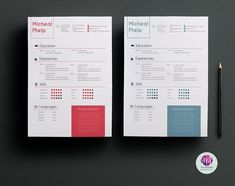 2 color options resume package by Chic templates on @creativemarket