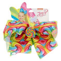 JoJo Siwa Large Rainbow Lollipop Swirl Hair Bow