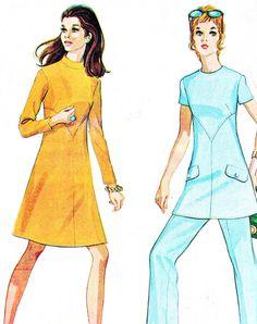 1970s Dress Tunic Pattern Womens Pants McCalls 2622 by paneenjerez, $10.00