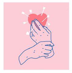 "lolrel: "" digital sketch 4 a valentine's day print """