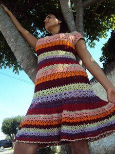 Vestido de croché. Foto: Jorge Yared.