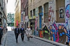 Hosier Lane - home of the greatest Melbourne street art and Movida, the best Spanish in town!